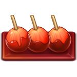 Caramel Fuji apples